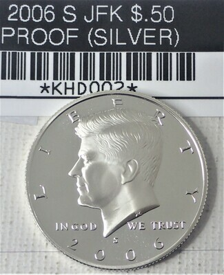 2006 S JFK $.50 PROOF (SILVER) JFK002