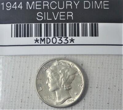 1944 MERCURY DIME (SILVER) MD033