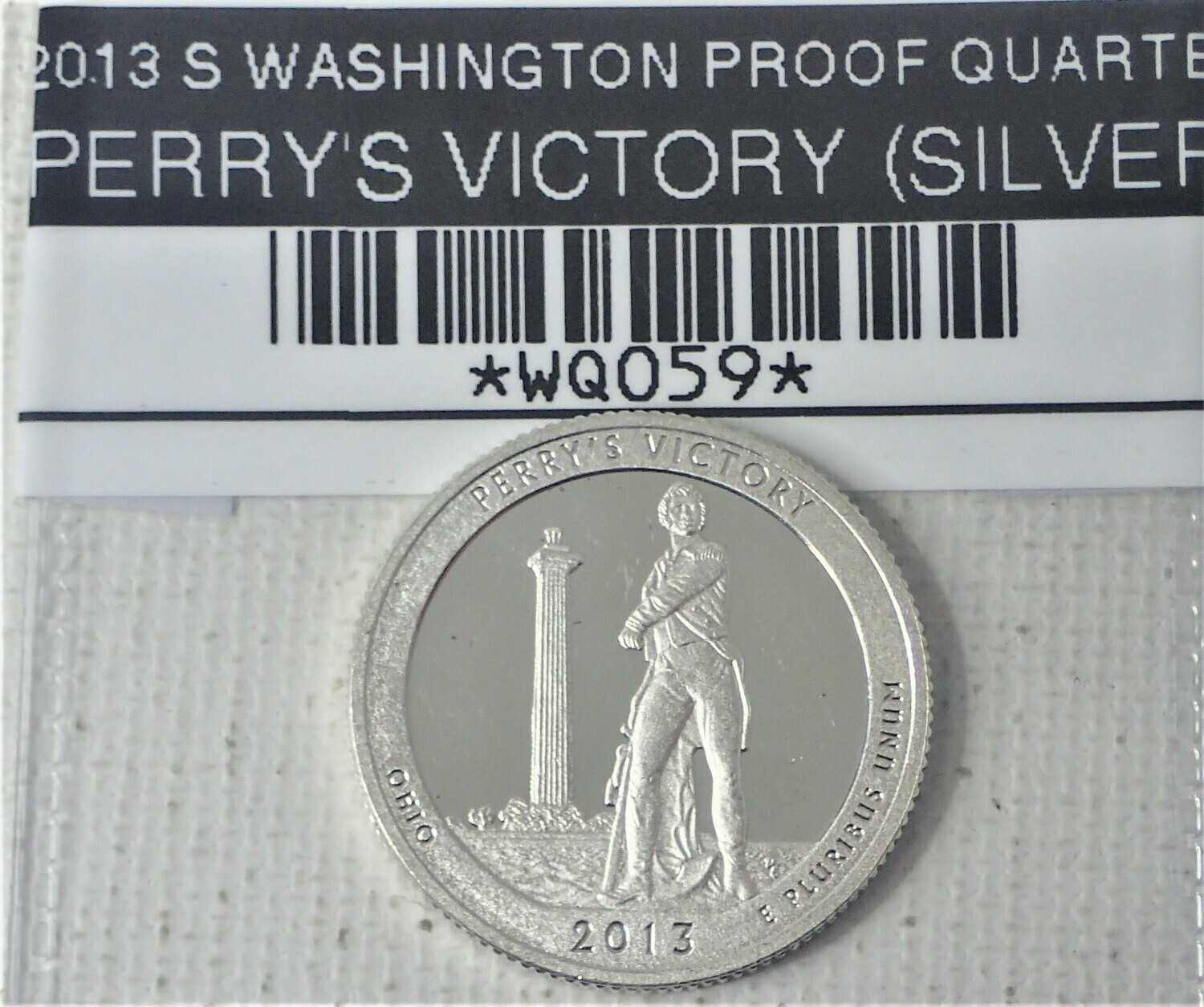 2013 S WASHINGTON PROOF QUARTER (SILVER) PERRY'S VICTORY WQ059