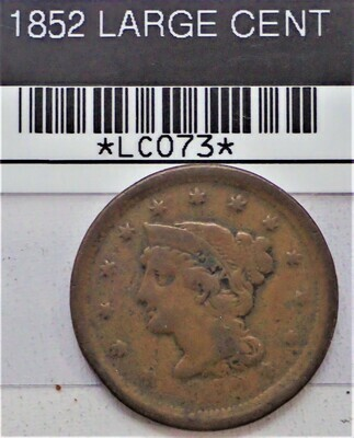 1852 LARGE CENT LC073