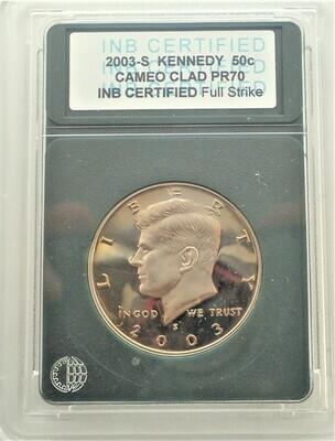 2003 S JFK $.50 CAMEO PROOF INB 001