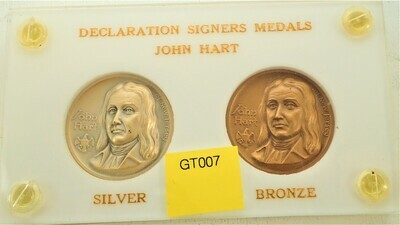 JOHN HART DECLARATION SIGNER SILVER AND BRONZE MEDALS GT007