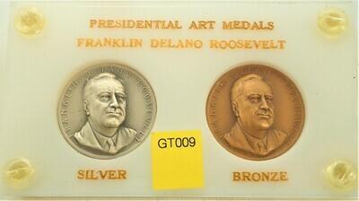 FRANK DELANO ROOSEVELT PRESIDENTIAL  SILVER AND BRONZE MEDAL