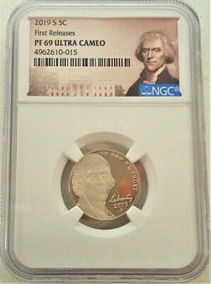 2019 S  $.05 JEFFERSON (FIRST RELEASE) NGC PF69 ULTRA CAMEO 4962610 015