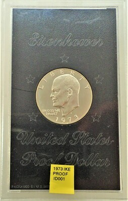 1973 S EISENHOWER SILVER PROOF ID001