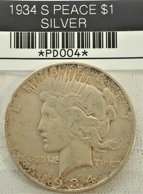1934 S PEACE $1 (SILVER) PD004