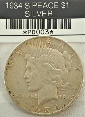 1934 S PEACE $1 (SILVER) PD003