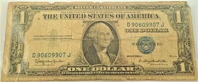 1935 H $1.00 SILVER CERTIFICATE D90609907J