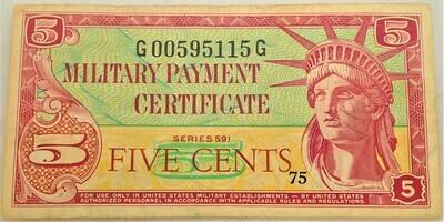 $.05 MILITARY SCRIPT SERIES 591 G00595115G