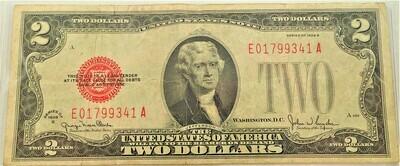 1928 G $2.00 UNITED STATES NOTE E01799341A