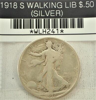 1918 S WALKING LIB $.50 (SILVER) WLH241
