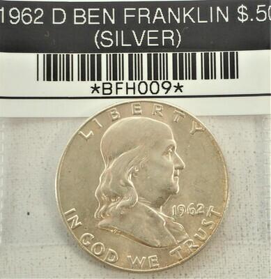 1962 D BEN FRANKLIN $.50 (SILVER) BFH009