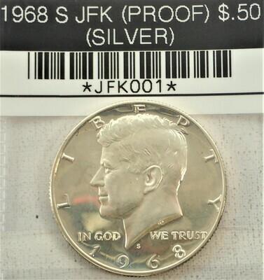 1968 S JFK $.50 (PROOF) (SILVER) JFK001