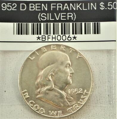 1952 D BEN FRANKLIN $.50 (SILVER) BFH006