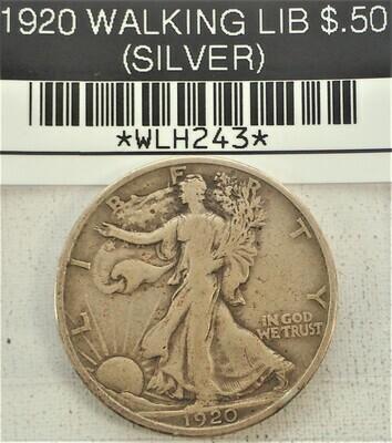 1920 WALKING LIB $.50 (SILVER) WLH243