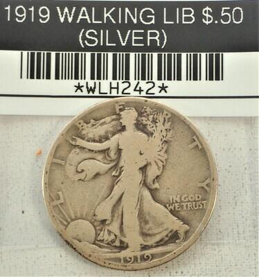 1919 WALKING LIB $.50 (SILVER) WLH242