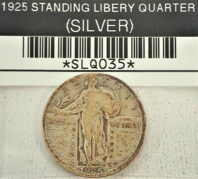 1925 STANDING LIBERTY QUARTER (SILVER) SLQ035