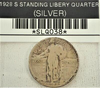 1928 S STANDING LIBERTY QUARTER (SILVER) SLQ038