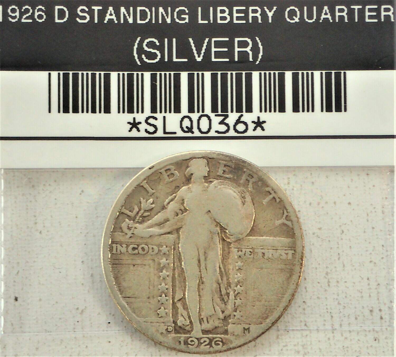 1926 D STANDING LIBERTY QUARTER (SILVER) SLQ036