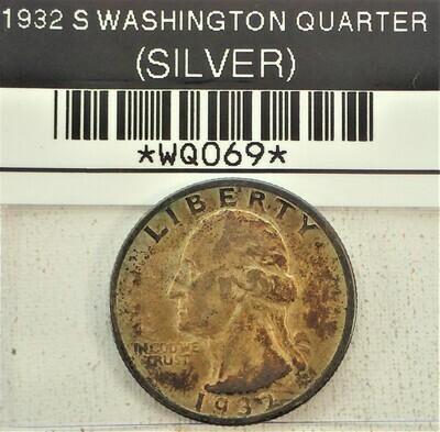 1932 S WASHINGTON QUARTER (SILVER) WQ069