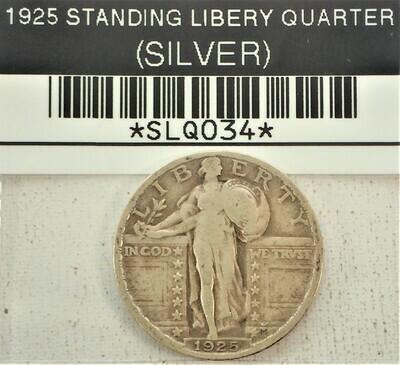 1925 STANDING LIBERTY QUARTER (SILVER) SLQ034