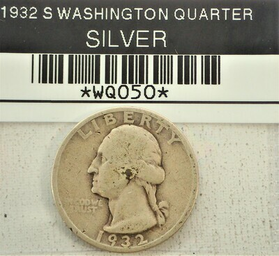 1932 S WASHINGTON QUARTERS (SILVER) WQ050
