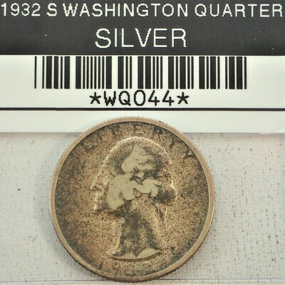 1932 S WASHINGTON QUARTER (SILVER) WQ044