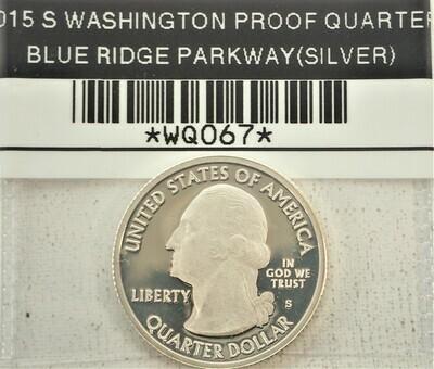 2015 S S WASHINGTON QUARTER (PROOF) BLUE RIDGE PARKWAY (SILVER) WQ077