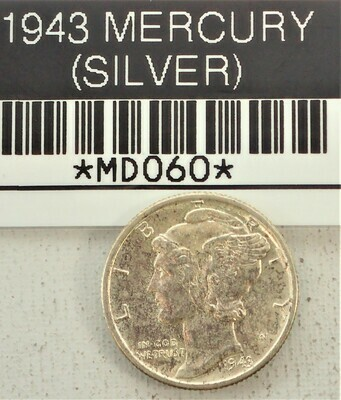 1943 MERCURY DIME (SILVER) MD060