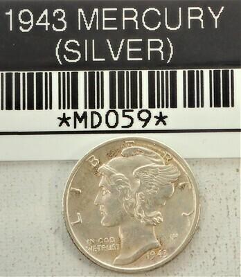 1943 MERCURY DIME (SILVER) MD059