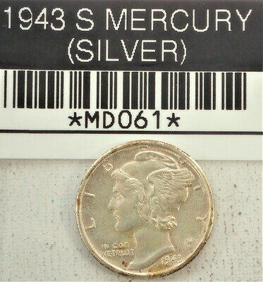 1943 MERCURY DIME (SILVER) MD061