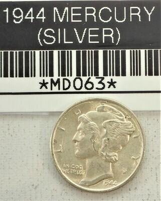 1944 MERCURY DIME (SILVER) MD063