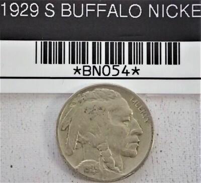 1929 S BUFFALO NICKEL BNO54