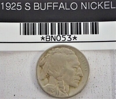 1925 S BUFFALO NICKEL BNO53