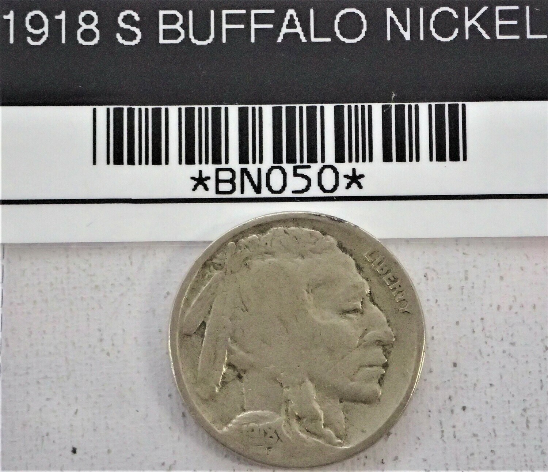 1918 S BUFFALO NICKEL BNO50
