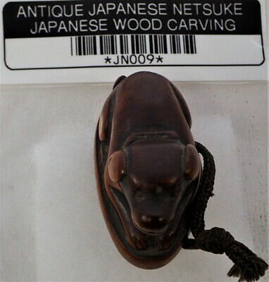 ANTIQUE JAPANESE NETSUKE WOOD CARVING JAPJN009