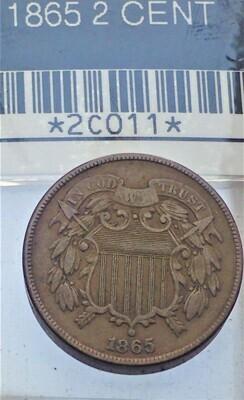 1865 2 CENT 2C011