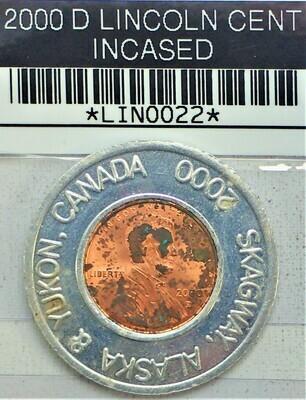 2000 D LINCOLN CENT ENCASED LIN0022