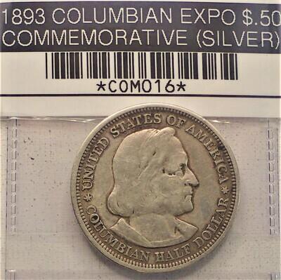1893 COLUMBIAN EXPO $.50 COMMEMORATIVE COM016