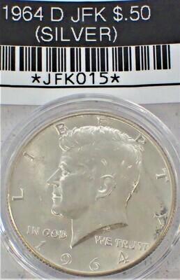 1964 D JFK $.50 (SILVER) JFK015