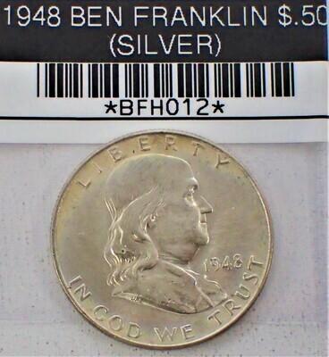 1948 $.50 BEN FRANKLIN (90% SILVER) BFH012