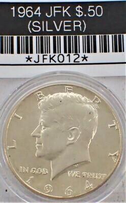 1964 JFK $.50 (SILVER) JFK012