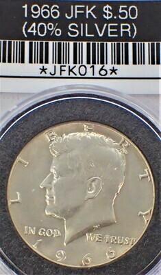 1966 JFK $.50 (40% SILVER) JFK016