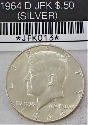 1964 D JFK $.50 (SILVER) JFK013