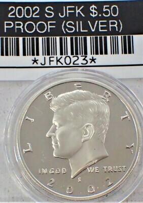 2002 S JFK $.50 PROOF (90% SILVER) JFK023