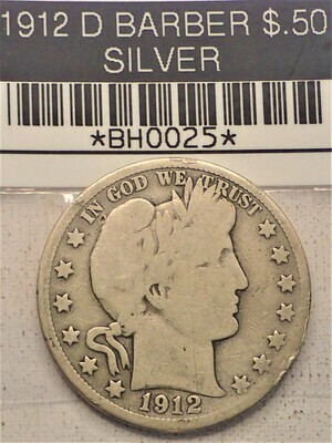 1912 D $.50 BARBER (SILVER) BH0025