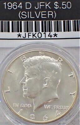 1964 D JFK $.50 (SILVER) JFK014