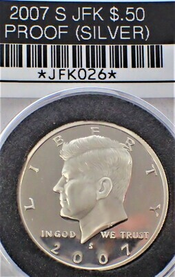 2007 S JFK $.50 PROOF (90% SILVER) JFK026