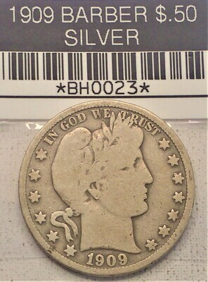 1909 $.50 BARBER (SILVER) BH0023