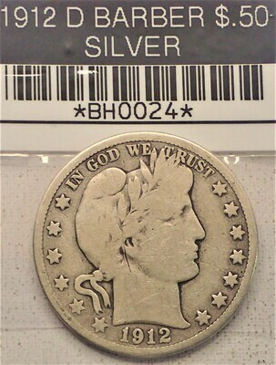 1912 D $.50 BARBER (SILVER) BH0024